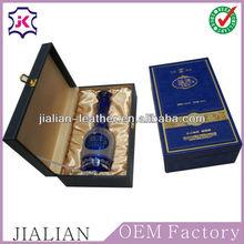 Single Blue leather Wine Box holder