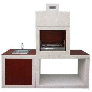 Moderne cast stone barbecue avec vier bbq av810 for Parrillas para casas modernas