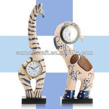 Custom resin polyresin clock horse