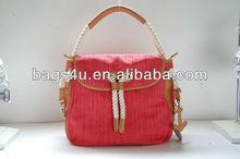 Vintage Brand Designer Fashion Mauve Leather handbags Casual Tote Women 2013