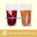 Pet/ny/pe bolsa transparente para vinho tinto