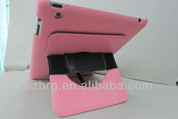 Stylish holding smart PU case for ipad,for ipad PU leather case