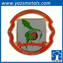 Customize army strong coins, custom made military coin for courage