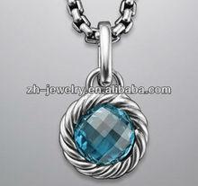 gemstone 925 sterling silver stone jewelry pendant