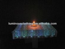 white luminous table cloth fiber optical fabric/lighting linen led table cover