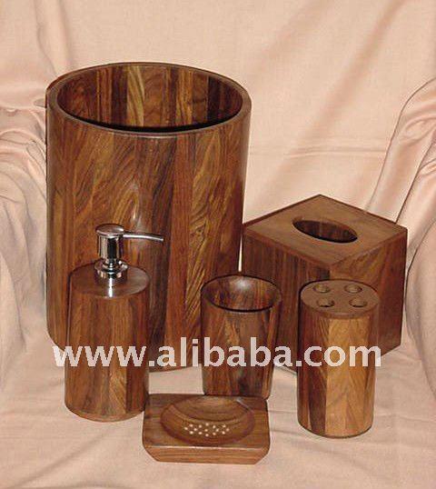 Madera accesorios de ba o instalaciones de ba os - Accesorios de bano en madera ...