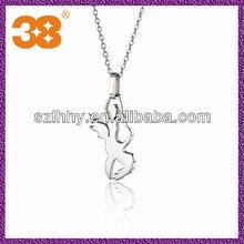 handcuff peandant necklace/silver pendant gun
