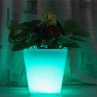 RGB led rechargeable outdoor flower pot light with remote control
