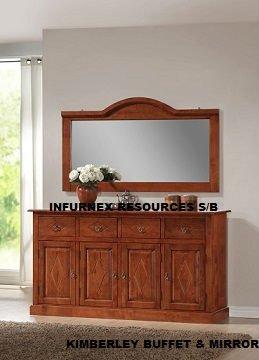 Buffet, espejo, muebles de madera, muebles