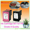 Compatible black and color inkjet cartridges 901 for hp printer