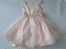 Party wear charming girls skirt baby full dress