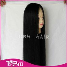 Beautiful long straight 100% virgin remy human hair wig