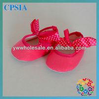 Pink baby Cotton Crib Shoes Ribbon Tie Soft Shoe 3 sizes