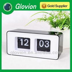 Creative Table Automatic Flip Clock,Retro File Down Page Clocks,auto flip calendar clock