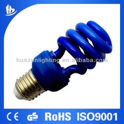 11w 3T half spiral compact fluorescent light blue
