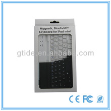 Ultra slim aluminum bluetooth hard keyboard cover case for ipad mini
