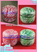 tintopball round tea tin box/tin container