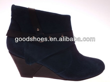 High quality cheap price wedge heel ankle boots for women