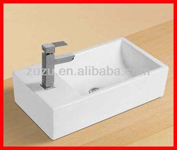 Lavatory Ceramic Vanity Washbasin Vessel Sink B-349 - Buy Square Small ...