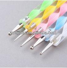 5 X 2way Dotting Pen Marbleizing Tool Nail Art Paint Seaweed A1