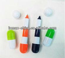 Pill shape telescopic mini ball pen for promotion