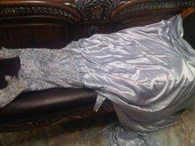 Silver woman evening dress