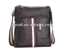 promotional men's genuine Leather messenger bag