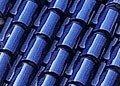 Roman Style Roof Tile, Blue Glazed