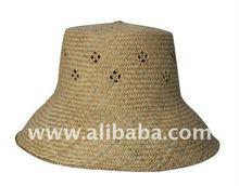 Bucket straw hat (male)