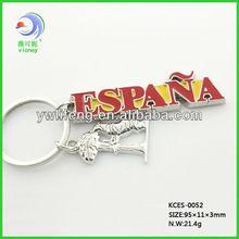 Spain Tourist Souvenir Spanish Bullfighting Metal keyring (LF-XL033)