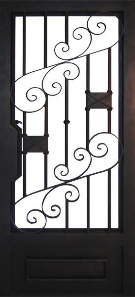 Modelos de puertas de hierro puerta principal de entrada o de exteriores aqu tenemos dos para - Modelos de puertas de hierro ...