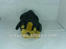 2013 cute face stuffed black dog toy/plush lying toy dog