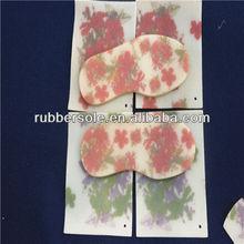 wholesale fashionable flower natural rubber sole for women dress shoes