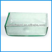 Alta qualidade quadrado de vidro do banheiro pias para cabeleireiro