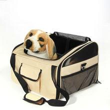 Dog Pet Car Seat Bag Carrier 3 Door Folding Dog House Crate Cage