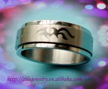 High quality 316 stainless steel finger ring designs men 2012.