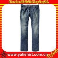 Good quality wholesale 100% cotton blue jean women straight leg jean