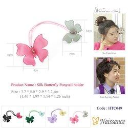 Silk Butterfly Ponytail holder (elastic hairband, hair accessory, hair accessories, RenaChris, Rena Chris, k pop, k-pop)
