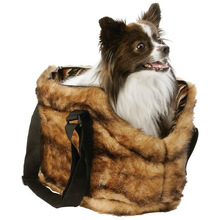Small Pet Faux Mink Pet Carrying Bag for Small dogs cats animals