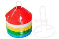 Glossy Disc Cones Set of 50pcs with a wire holder