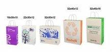 Paper Bag with handle, 120 gsm koral kraft paper