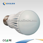2013 hot sale CE&RoHS approved AC85-265V input LUMI 7w e27 led bulb