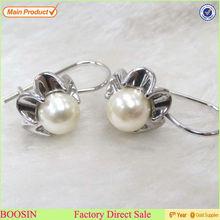 Hot!!! Fancy Design Metal Alloy 2013 Fahsion Pearl Earrings Jewelry #1