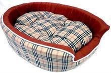 A.BROWN PLAID! DOG BEDS Mat Crate Pets Dog Cat