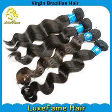 Various length no shedding natural wave brazilian hair