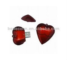 Custom Logo Heart Pen Drive Wholesale