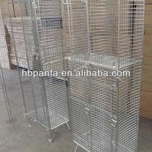 Wire Mesh Lockers / two tier mesh storage
