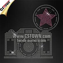 Bling camera nailhead custom wholesale hotfix motif patterns