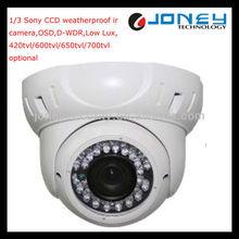 Outdoor Waterproof 1/3 Sony CCD IR Vandalproof Dome Camera