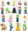 for nintendo toys Super Mario Bros plastic PVC action figures 18pcs/set